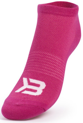 Better Bodies Short Socks 2-Pack - Pink/Lime